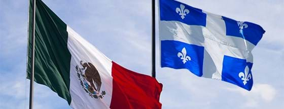 Mexico and Quebec flags